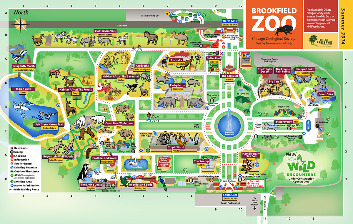 Brookfield Zoo Map My Blog